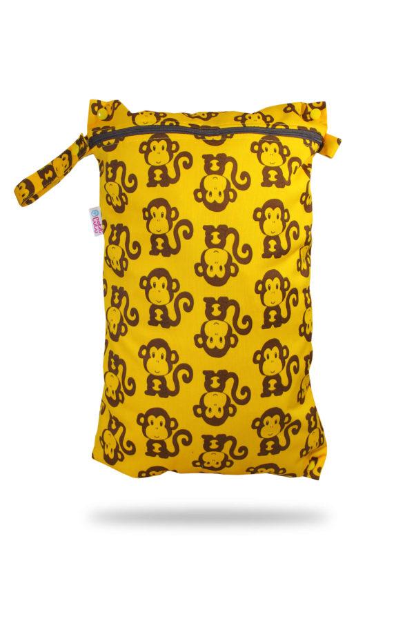 Produktbild 101025-Petit-lulu-Nasstasche-Wetbag-Affen-Nappybag2_new Grundfarbe gelb