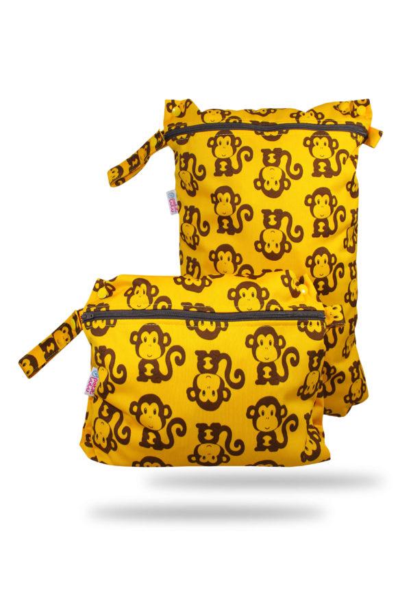 Produktbild 101025-Petit-lulu-Nasstasche-Wetbag-Affen-Nappybag_new Grundfarbe gelb