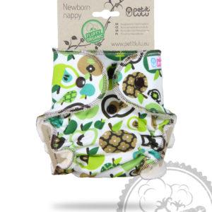 Produktbild 101825 Petit Lulu Hoeschenwindel Neugeborene-Organic-gruene Aepfel