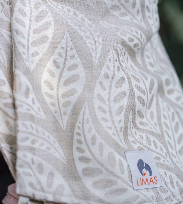 Produktbild LIMAS Babytrage mit Leinen Valerie 06 Blättermotive in beige