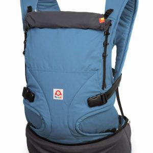 Produktbild Ruckeli_Babytrage_Blue_and_Grey__Web1400x Grundfarbe blau und grauen Applikationen