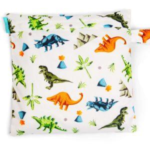 Produktbild Charlie Banana-Nasstasche-Tote bag_Dinosaurs Tasche mit bunten Dinosauriern