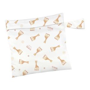Produktbild Charlie Banana-sophie la Girafe-Nasstasche-Tote Bag_Classic Grundfarbe weiss mit Giraffen